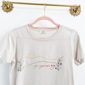 PST Go Your Own Way Graphic Tee Tan